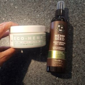 Natural hydrating body lotions and spritz